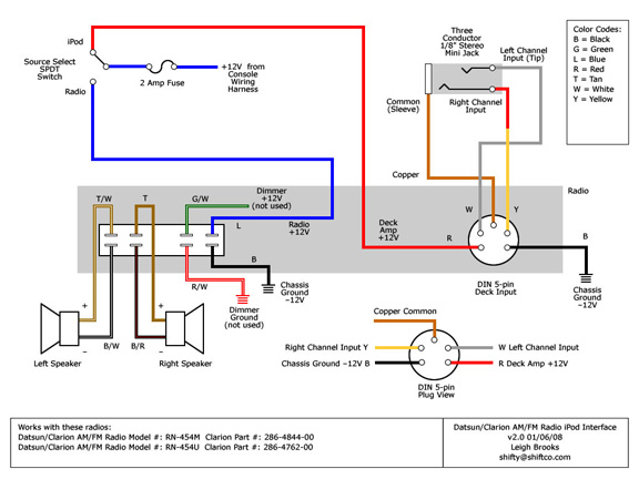 clarion car radio wiring diagram clarion image 311s org datsun sports tech wiki techsection 311s org datsun on clarion car radio wiring diagram